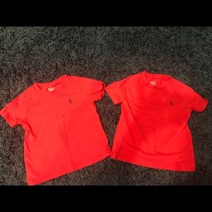 Polo shirts 18 mos red